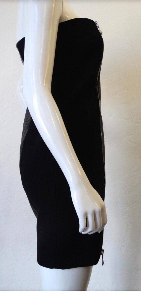2000s Anthony Vaccarello for Versus Versace Strapless Dress