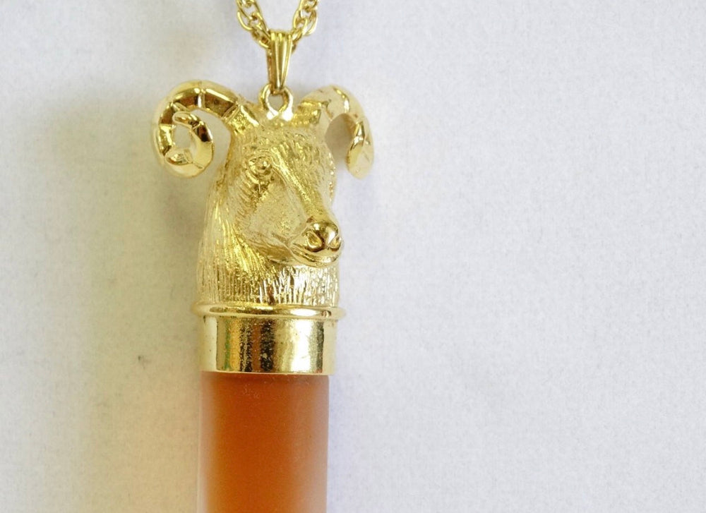Charles Revson Ram's Head Perfume Flask
