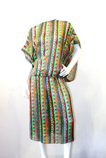 Julio Mixed Pattern Silk Dress