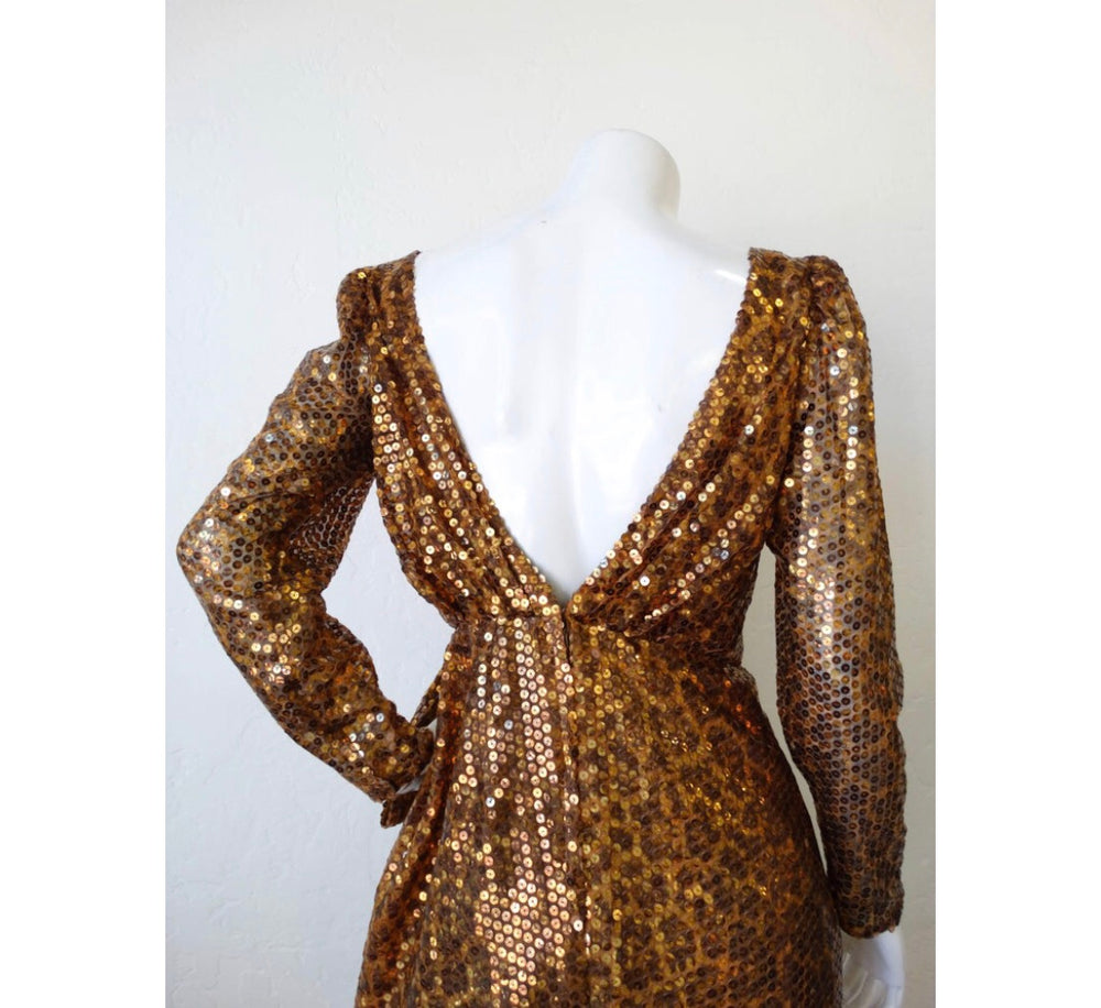 Saks Fifth Avenue Leopard Sequins Dress