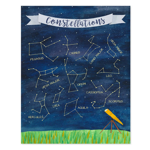 constellations poster - telegraph paper co.