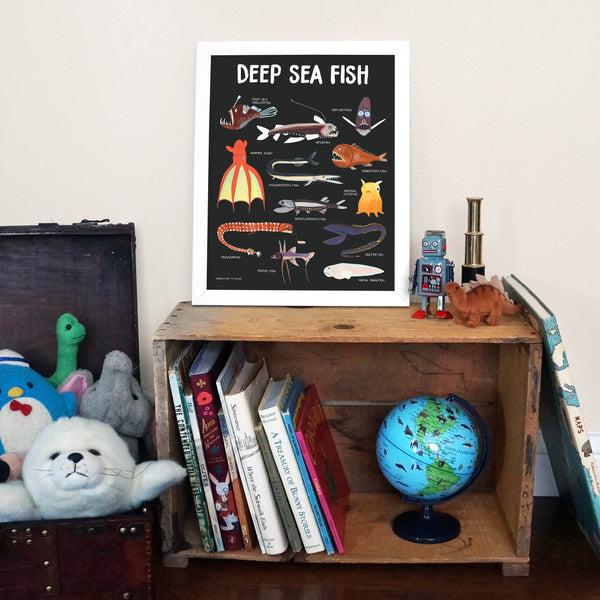 deep sea fish poster 2 - telegraph paper co