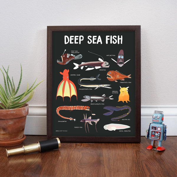 deep sea fish poster 3 - telegraph paper co
