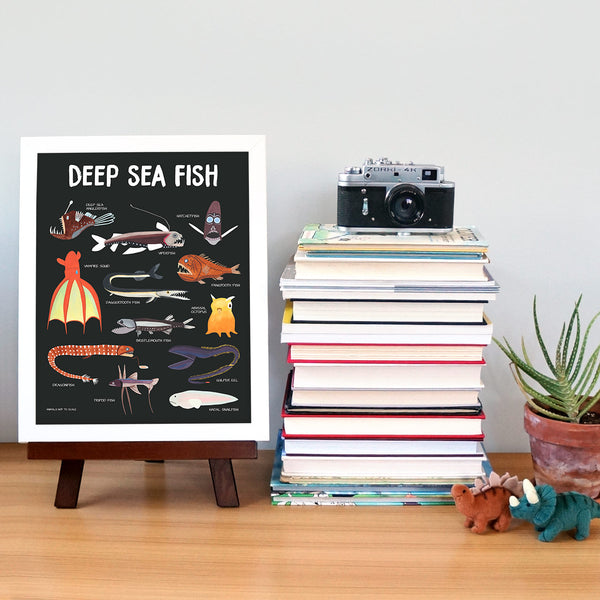 deep sea fish poster 4 - telegraph paper co