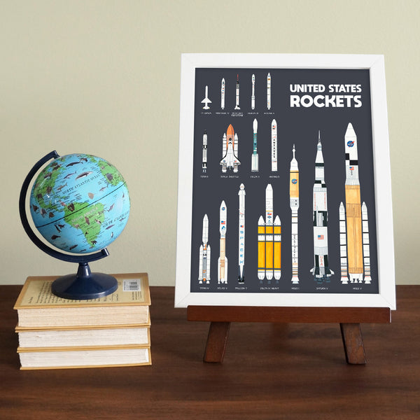 United States Rocket Poster Educational Poster by Telegraph Paper Co