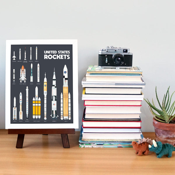 Space Rocket Poster Educational Poster by Telegraph Paper Co