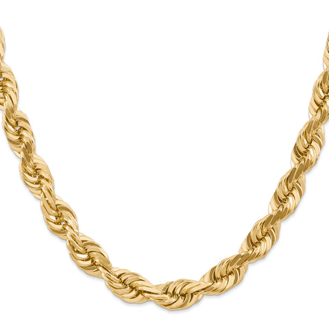14k 10mm D/C Rope Chain 80