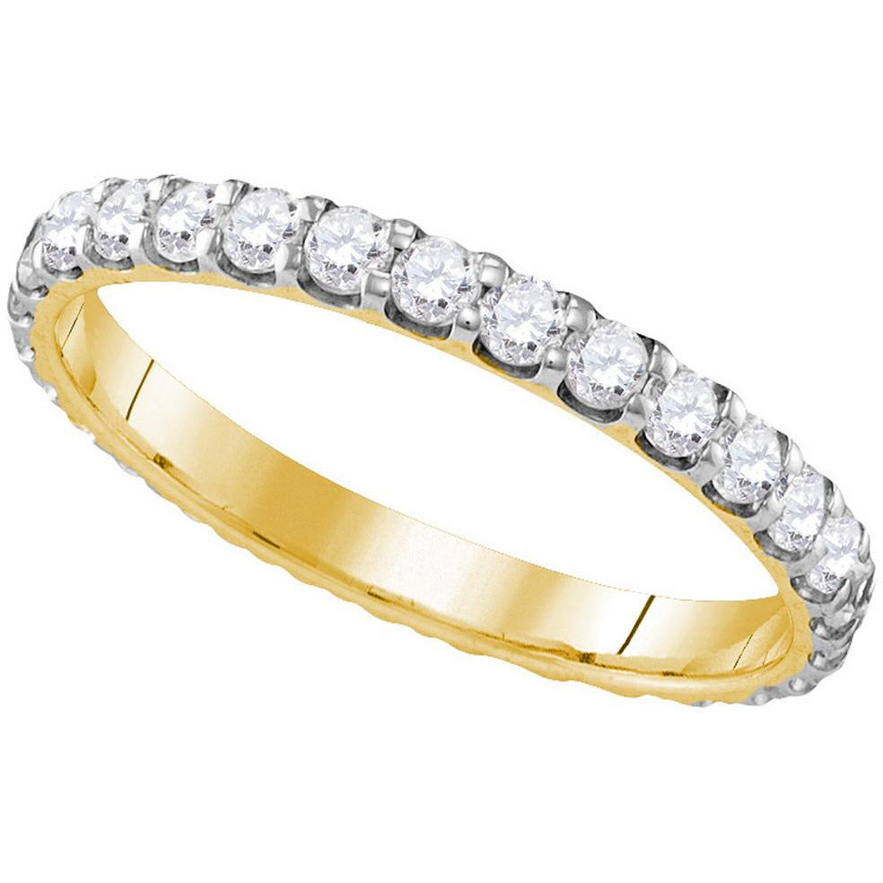 10k Yellow Gold Womens Round Diamond Bridal Wedding Anniversary Ring Band 1.00 Cttw 109611 - shirin-diamonds