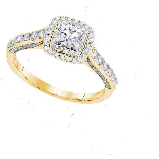 14kt Yellow Gold Womens Princess Diamond Solitaire Bridal Wedding Engagement Ring 1.00 Cttw Size 5 (Certified) 109681 - shirin-diamonds