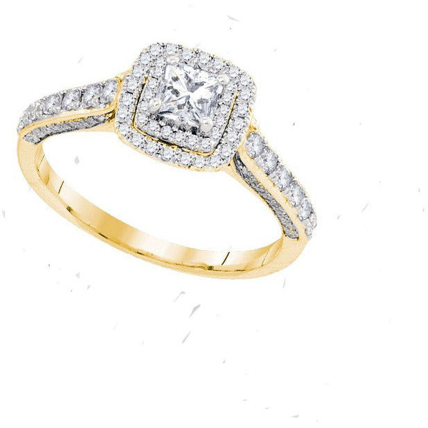 14kt Yellow Gold Womens Princess Diamond Solitaire Bridal Wedding Engagement Ring 1.00 Cttw Size 8 (Certified) 109683 - shirin-diamonds