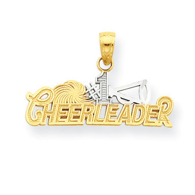 10k & Rhodium #1 Cheerleader Charm 10C1030 - shirin-diamonds