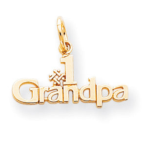10k #1 Grandpa Charm 10C120 - shirin-diamonds