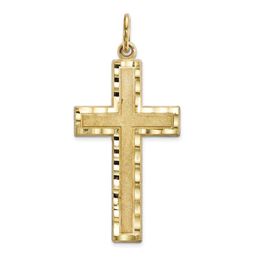 10k Cross Charm 10C322 - shirin-diamonds