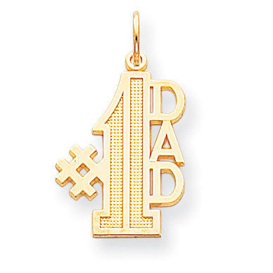 10k #1 DAD CHARM 10C451 - shirin-diamonds