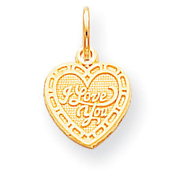10k I LOVE YOU HEART CHARM 10C474 - shirin-diamonds