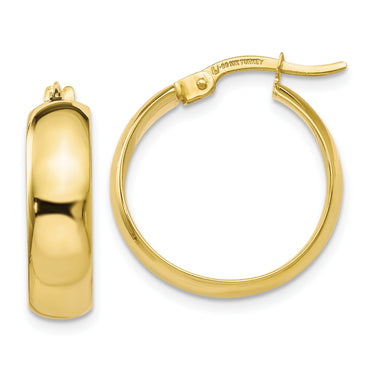Leslie's 10k Polished Hinged Hoop Earrings 10LE213 - shirin-diamonds