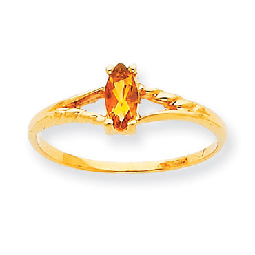 10k Polished Geniune Citrine Birthstone Ring 10XBR188 - shirin-diamonds