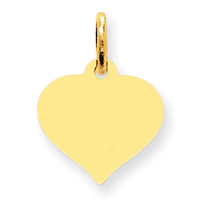 10K Heart Disc Charm 10XM526/18 - shirin-diamonds