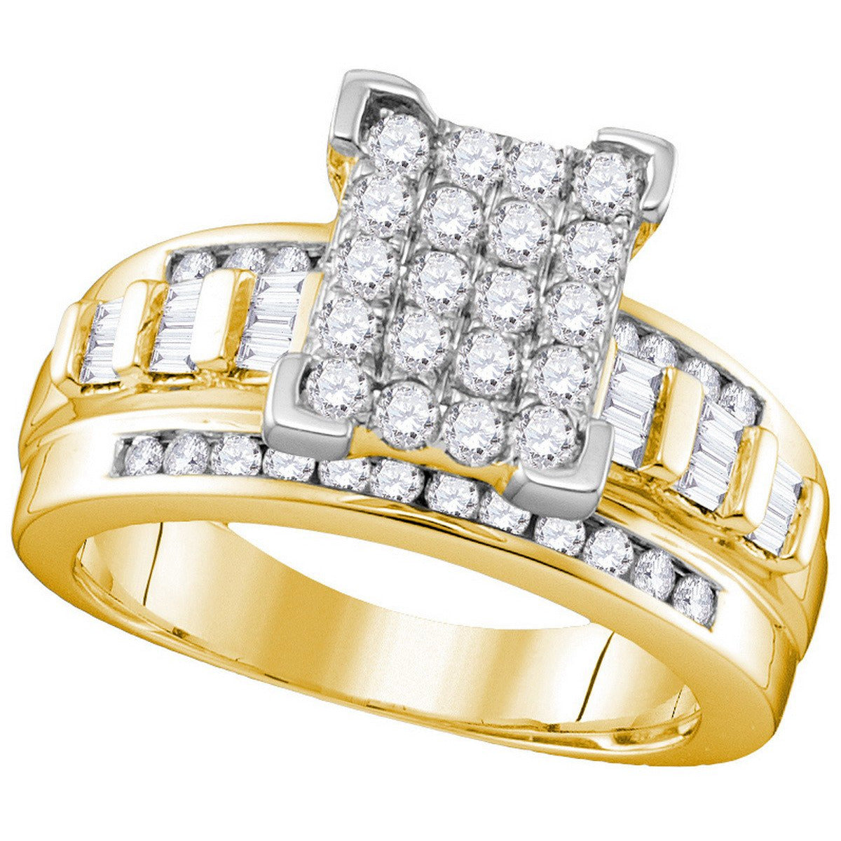 10k Yellow Gold Diamond Cindy's Dream Cinderella Bridal Wedding Engagement Ring 2 Cttw Size 7 111617 - shirin-diamonds