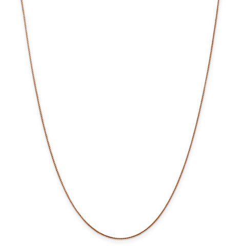 Leslies 14k Rose Gold .8mm Baby Spiga (Wheat) Chain 1203