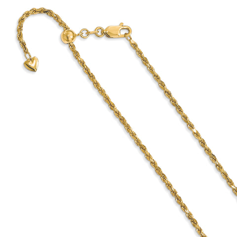 Leslie 14K 2 mm Semi Solid Rope Chain 1204
