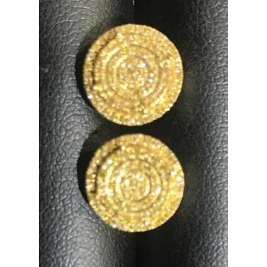 10kt Yellow Gold Round Canary Diamonds Earrings 244213