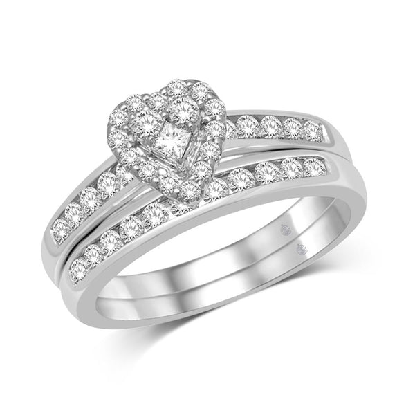10K White Gold 2/5 Ct.Tw. Diamond Bridal Ring