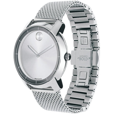 MOVADO Unisex Swiss Bold Stainless Steel Mesh Bracelet WatcH  3600241 - shirin-diamonds