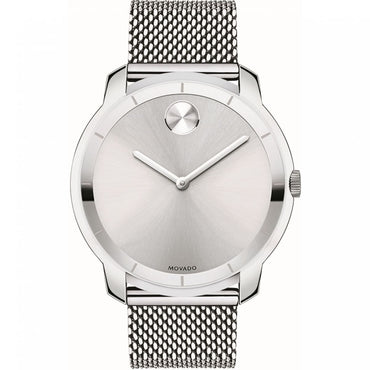 MOVADO Bold Silver Dial Stainless Steel Mesh Men's Watch 3600260 - shirin-diamonds