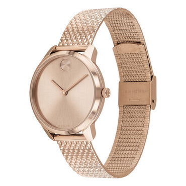 MOVADO Womens Bold Watch Pale Rose Gold ion-plated Stainless Steel Case 3600596 - shirin-diamonds