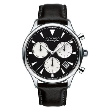 MOVADO Men's Movado Heritage Series Calendoplan chronograph 3650005 - shirin-diamonds