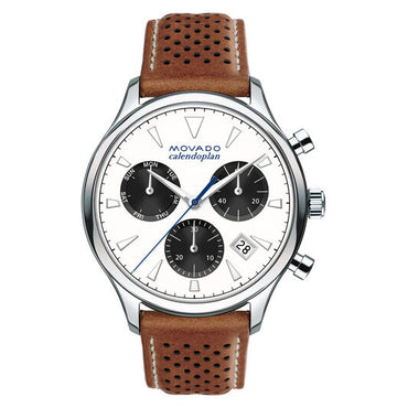 MOVADO Men's Movado Heritage Series Calendoplan chronograph 3650008 - shirin-diamonds