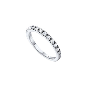 14kt White Gold Womens Round Diamond Slender 3mm Wedding Band 1/3 Cttw 38882 - shirin-diamonds