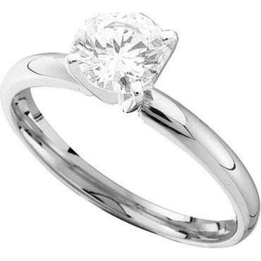 14kt White Gold Womens Round Diamond Solitaire Bridal Wedding Engagement Ring 7/8 Cttw 50042 - shirin-diamonds