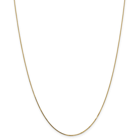 Leslie 14K .8 mm Box w/Lobster Chain 502