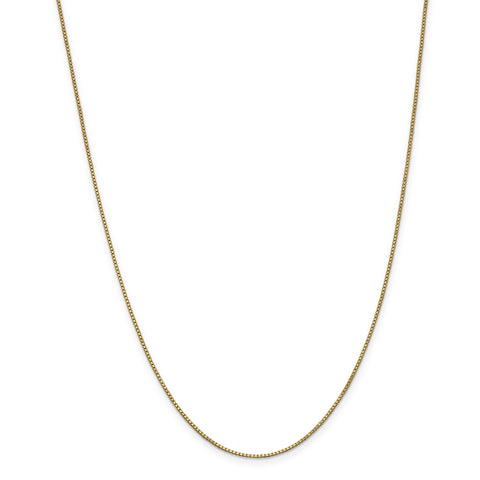 Leslie 14K 1 mm Box w/ Lobster Chain 516
