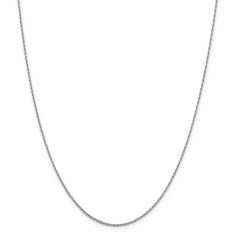 Leslie 10K White Gold 1.2 mm  Loose Rope Chain 5187