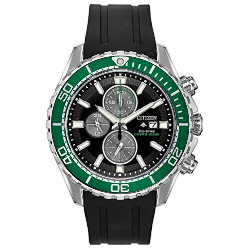 Men's Citizen Eco-Drive Promaster Chronograph Diver Watch CA0715-03E