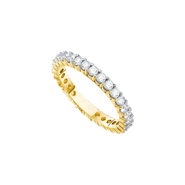 14k White Gold Womens Round Diamond Pave Wedding Anniversary Band 2.00 Cttw 55286 - shirin-diamonds