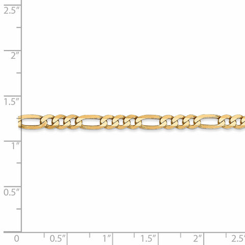 Leslie's 14K 3.25mm Flat Figaro Bracelet 1234 - shirin-diamonds