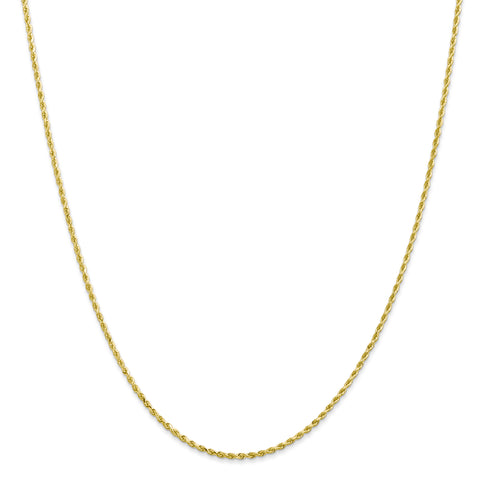 Leslies 10K 1.75mm Diamond Cut Rope Chain 8000