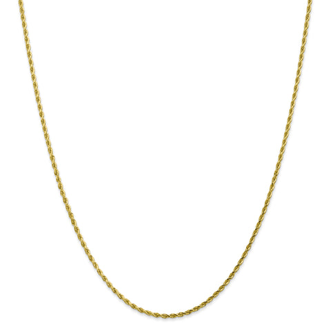 Leslies 10K 2.00mm Diamond Cut Rope Chain 8001