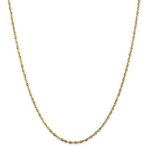 Leslies 10K 1.8mm Diamond Cut Lightweight Rope Chain 8050