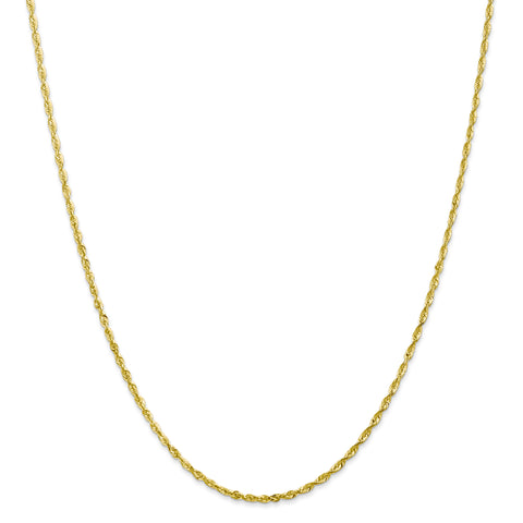 Leslies 10K 2.00mm Diamond Cut Lightweight Rope Chain 8051