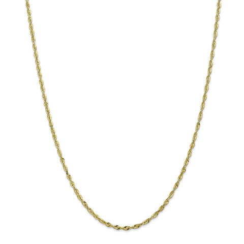 Leslies 10K 2.5mm Diamond Cut Lightweight Rope Chain 8052-30