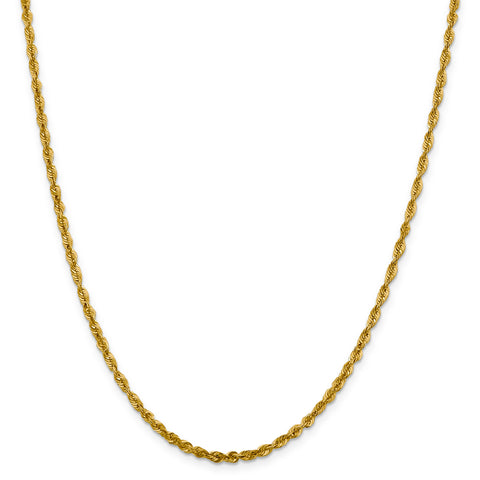 Leslies 10K 3.0mm Diamond Cut Lightweight Rope Chain 8053