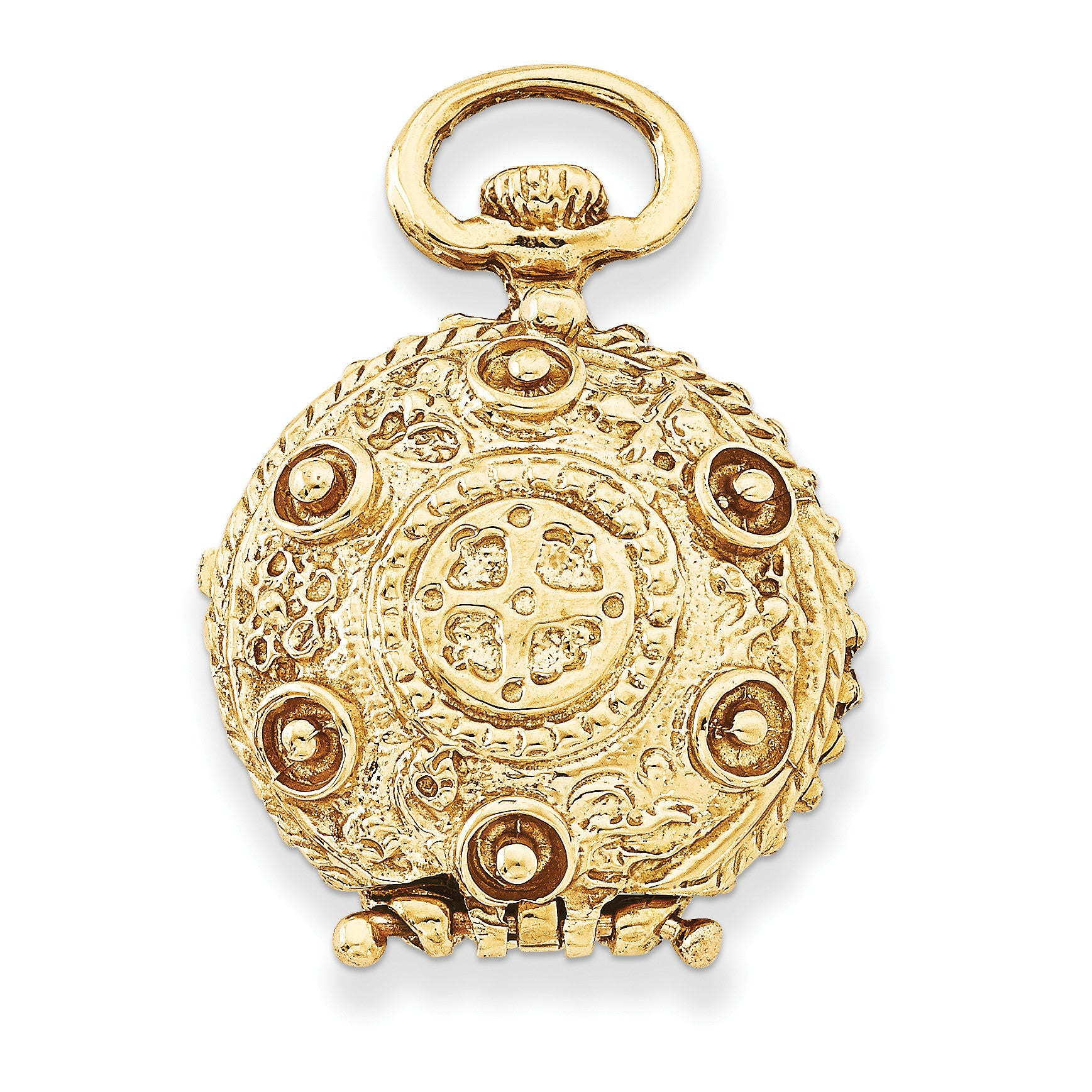 14k Fancy Domed Locket A0696 - shirin-diamonds