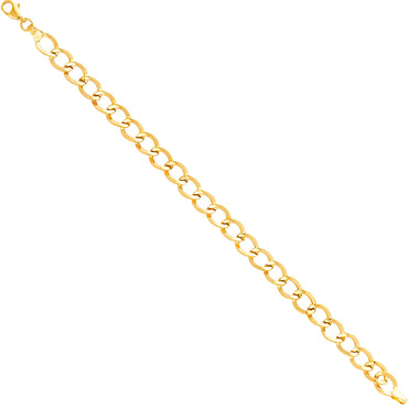"14kt Yellow Gold Designer Bracelet 7.5"" with 4.7 grams"