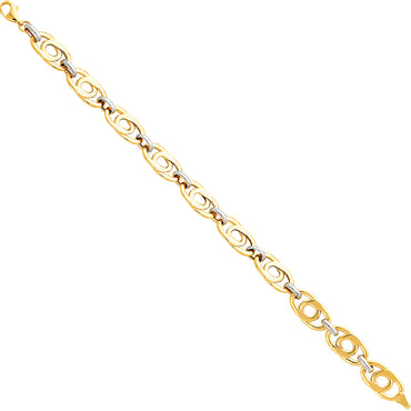 "14kt 2-tone Gold Designer Bracelet 7.5"" with 5.1 grams"