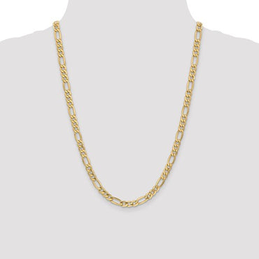 "14k 2mm Semi-Sold Figaro Link Chain 16"" - 24"""